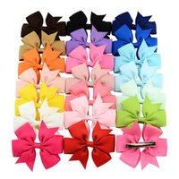 Jojo 3 inch Baby Girls Ribbon Bow Hair Clips Girl Fishtail Clip Hairpins Alligator Hair Bows Headwear Hair Accessories