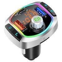 LED 백라이트 블루투스 FM 송신기 자동차 키트 MP3 TF / U 디스크 플레이어 핸즈프리 어댑터 듀얼 USB QC 3.0 + PD 유형 C 빠른 충전기 BC63