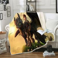 Cloocl cobertores Como treinar seu dragão 3D Imprimir Street Style Cobertor Sofá Adolescentes de cama Jogar Quilt de Plush