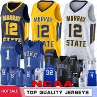 JA 12 Ahlaki Murray State Koleji Basketbol Formaları NCAA Zion 1 Williamson Duke Mavi Şeytanlar RJ 5 Barrett 2 Reddis J.J 4 Redick 32 Laettner