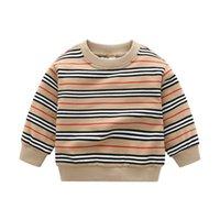 2021 새로운 뜨거운 판매 아기 소년 스트라이프 스웨터 봄 가을 소년 니트 풀오버 키즈 코튼 스웨터 어린이 느슨한 캐주얼 스웨터
