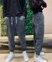 21SS Men Hommes Pantalon imprimé Couleur Denim Lettres Jogging Pant Pantalon Casual Slim Fit Body Pantalons De Mariage