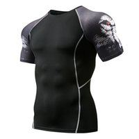 2018 Quick Seco Homens Impresso Camisa de Compressão de Jerseys Bodybuilding Fitness Homem Ginásio Spining Cycling Base Layer Sportswear