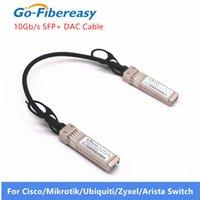 Câble DAC 10G SFP + Passive Direct Fixation Câble Twinax Copper 0.2m 30Awg Compatible pour Ubiquiti Mikrotik Zyxel 10G SFP + DAC Câble