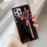 Luxury Design Rhinestone Box Phone Cases For iPhone 13 Pro Max 12 11 Xs Xr X 6s 7 8 Samsung Note20 Ultra S9 S21 S20 Plus Glitter Mirror Scratchproof Fallproof Cover