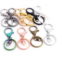 5pcs / lot 30mm portachiavi lungo 70mm popolare classico 11 colori placcato aragosta chiusura tasto gancio catena di gioielli per keychain y0306