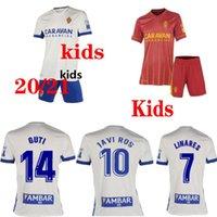 Промота2021 Real Suarez Zaragoza Soccer Jersey 20 21 Javi Ros Kagawa Linares Football CamiSeta de Futbol Guti Men + Kids Kits