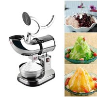 Electric Dual Blades Ice Crusher Shaver Machine Snow Cone Maker Stainless Steel Ice Smoothies Maker Blender Machine