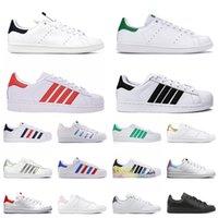 sapatos masculinos femininos plataforma casual tênis stan smith couro superestrelas de estilista tênis preto branco vintage tênis 36-45