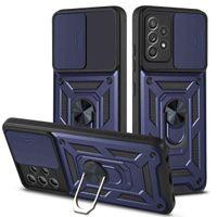 Luxe Anti Falling Armature Ring Bracket, Push Window Mobiele telefoon Case, Redmi K40 11 11I 11X Lite 4G 5G Bit C3 M3 F3 PC PC