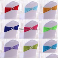 Ers Textiles Home & Gardenwedding Er Sashes Elastic Spandex Band Bow With Buckle Wedding Birthday Party Chair Decoration Drop Delivery 2021