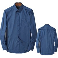 2021 Marca alemana camisa de los hombres de alta calidad de algodón de alta calidad Camisa de color sólido 2021 Nueva moda camisa casual de manga larga M-4XL