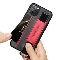Bracket Wrist Strap Mobile Phone Cases 13pro Protective Cover Case For Iphone 11 12 13 Mini Pro X Xs Max 6 6s 7plus 8 Plus Xr