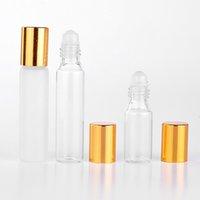 50pcs lot 5ml 10ml Refillable Perfume Bottle Roll on Bottles for Essential Oils Vial Empty Perfume Sample Roller Bottle