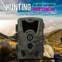 야외 사냥 카메라 1080P 야생 동물 탐지기 트레일 카메라 HD 방수 모니터링 적외선 열 감지 스카우트 카메라