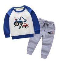 2021 Abbigliamento per bambini Abbigliamento per bambini Baby Boys Costume Lettera Set TRACKSUIT TRACKSUIT 100% Cotone Top Pantaloni 2 PZ Bambini Boy Abiti invernali 2-8 anni