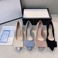 Designer Luxus Womens High Heels Sandalen Schuhe Mode Buchstaben Leder Flachschuh Kleid Professionelle Dating Hochzeitsfest Hitzeschuhe Größe 35-40