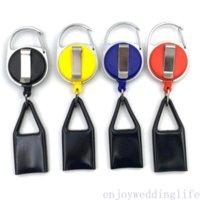 1pc Premium Colorful Gomma Accendino Guaina Guaina Accendisigari Plastica Guinzaglio Guinzaglio per Pantaloni Retractable Reel Metal Keychain Porta accendino FY4422