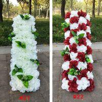 Decorative Flowers & Wreaths Wedding Road Lead Long Table Centerpieces Flower Arch Door Lintel Silk Rose Party Backdrops Decoration Valentin