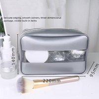 Storage Bags Transparent PVC Cosmetic Bag Women Men Fashion Waterproof Makeup Travel Big Capacity Organizer Pouch Simple Toiletry Tool