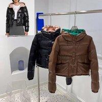 Femmes Jacket Down Hoodids Denim Terry Parkas Top Qualité Dame Blazers Blazers Triangle Budge Hiver Manteaux épais manches longues Taille de la taille 0-2