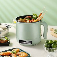 Multifuncional Multifuncional Máquina de Cozinha Elétrica 1/2 Camada de Aço Inoxidável Fogão de Arroz HotPot Macarrão Alimentos Steamer Pot