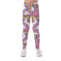 Детские брюки Unicorngegenge Детские брюки Леггинсы для русалки упругость Дышащий мягкий печать ребенка