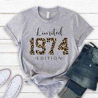 Women's T-Shirt Limited Edition Leopard 1974 Shirt,Vintage Plaid Shirt, 47th Birthday Tshirt, Party Fashion Gift, Summer T Shirts,