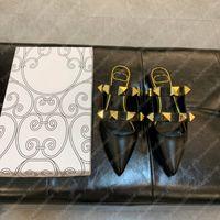 Женские насосы римские гвоздики с плоским мул балетные сандалии Slincback сандалии дизайнерские туфли высокие каблуки сандалии эспадрильские женские эспадриль 2108064L
