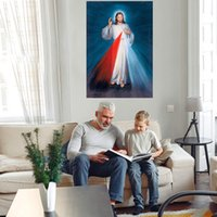Gesù Cristo Ritratto Grande pittura a olio su tela Home Decor Handpainted HD Stampa HD Stampa Wall Art Pictures Personalizzazione è accettabile 21070305
