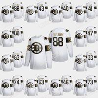 Boston Bruins Bianco Golden Edition Brad Marchand David Pastrnak Krejci Patrice Bergeron Torey Krug Charlie Coyle Zdeno Charra Jerseys