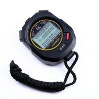 Zamanlayıcılar Koşu Doğru 3 Satır Su Geçirmez Zamanlayıcı Kronometre Taşınabilir Dijital Ekran Sayacı El 10 Kanallar Alarm Spor Atletizm