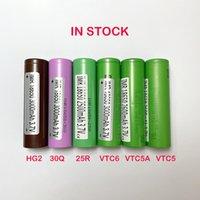 최고 품질의 18650 충전식 배터리 삼성 25R 30 q LG HG2 Sony VTC6 VTC5A VTC5 재고 모두
