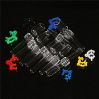 wholesale smoking accessories 10mm 14mm 18mm Quartz Tip with Plastic Keck Clips for nectar collectors QuartzBanger Nail glass tips