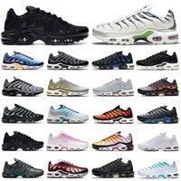 cheaper tn plus running shoes men women Black White Pink Psychic Blue Fury Digital Camo Orange Gradient Grey Neon Green outdoor sports trainers sneakers mens womens