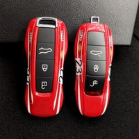 키 보호 커버 포르쉐 Cayenne Macan Boxster Cayman 911 9YA 971 자동차 경보 FOB 원격 레드 열쇠가없는 케이스 하드 쉘