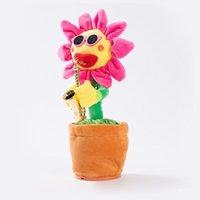 Dance Sunflowers carino incantevole peluche peluche giocattoli musicali fatti a mano luminescenza incantesimi elettrici fiori romanzo stile kkb7813