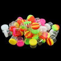 glass jars Mini Empty Bottle silicone dab container nonstick oil jar tobacco storage containers