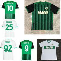2020 2021 US Sassuolo Calcio Soccer Jerseys Home Away Chiriches Djuricic Locatelli Berardi Boga Caputo Defrel 20 21man Football Shirt
