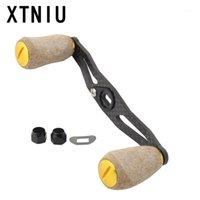 Baitcasting بكرات xtniu جودة عالية 105 ملليمتر 8 * 5 ملليمتر هول ألياف الكربون الصيد بكرة مقبض لينة خشبية كورك مقبض بيت الصب الروك