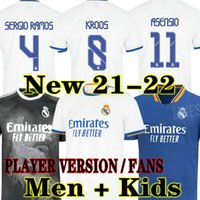 Hazard Player-Version Fans Real Madrid Soccer Jerseys 21 22 Militao Camiseta 2021 2022 Männer weg Dritter Vinicius Football Hemd Kinder