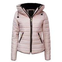 Women's Trench Coats ZOGAA 2021 Parkas Basic Winter Jackets Female Women Plus Velvet Lamb Hooded Down Jacket Womens Outwear