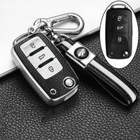 Deri + TPU Araba Anahtar Kapak Kılıf Volkswagen VW Polo Tiguan Passat B5 B6 B7 Golf EOS Scirocco Jetta MK6 Octavia Aksesuarları