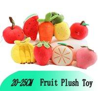 DHL رياض الأطفال مدرسة الكرتون الفاكهة أفخم لعبة الفراولة موز أبل الجزرة الأناناس وسادة محاكاة دمية فتاة