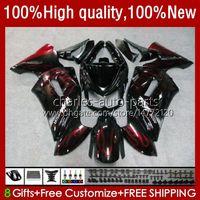 OEM Bodywork para Kawasaki Ninja ER 6 F 2006-2008 ER6 F 650 R 650R 06-08 Cuerpo 6NO.9 650R-ER6F ER-6F ER 6F 2006 2007 2008 650-R ER6F 06 07 08 Cargadoras de motocicletas Red Llamas Stock