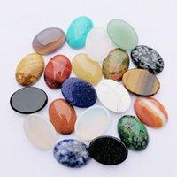 Cura Crystal Natural Semiprecioso Oval Pedra Pedra Beads 25x18mm Remendo Face para Pedras Colar Anel Earrrings Jóias Fazendo Acessório