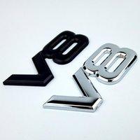 سيارة شعار المعادن شعار النزوح شارة سيارة شارة صائق التصميم 3d v8 السيارات ملصقا orajp