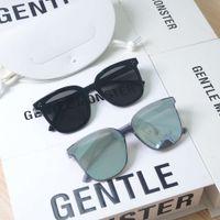 고품질 부드러운 digner 브랜드 몬스터 선글라스 여성 안녕 선글라스 남자 거울 선글라스 원래 케이스 상자