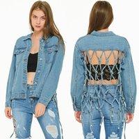 Women's Jackets Women Jacket Parkas Loose Tassel Denim Top Back Hollow Baseball Traf Plus Size