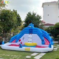 Fornitura di fabbrica uso domestico uso personalizzato castello gonfiabile castello combo waterpark piscina a salto della piscina in vendita